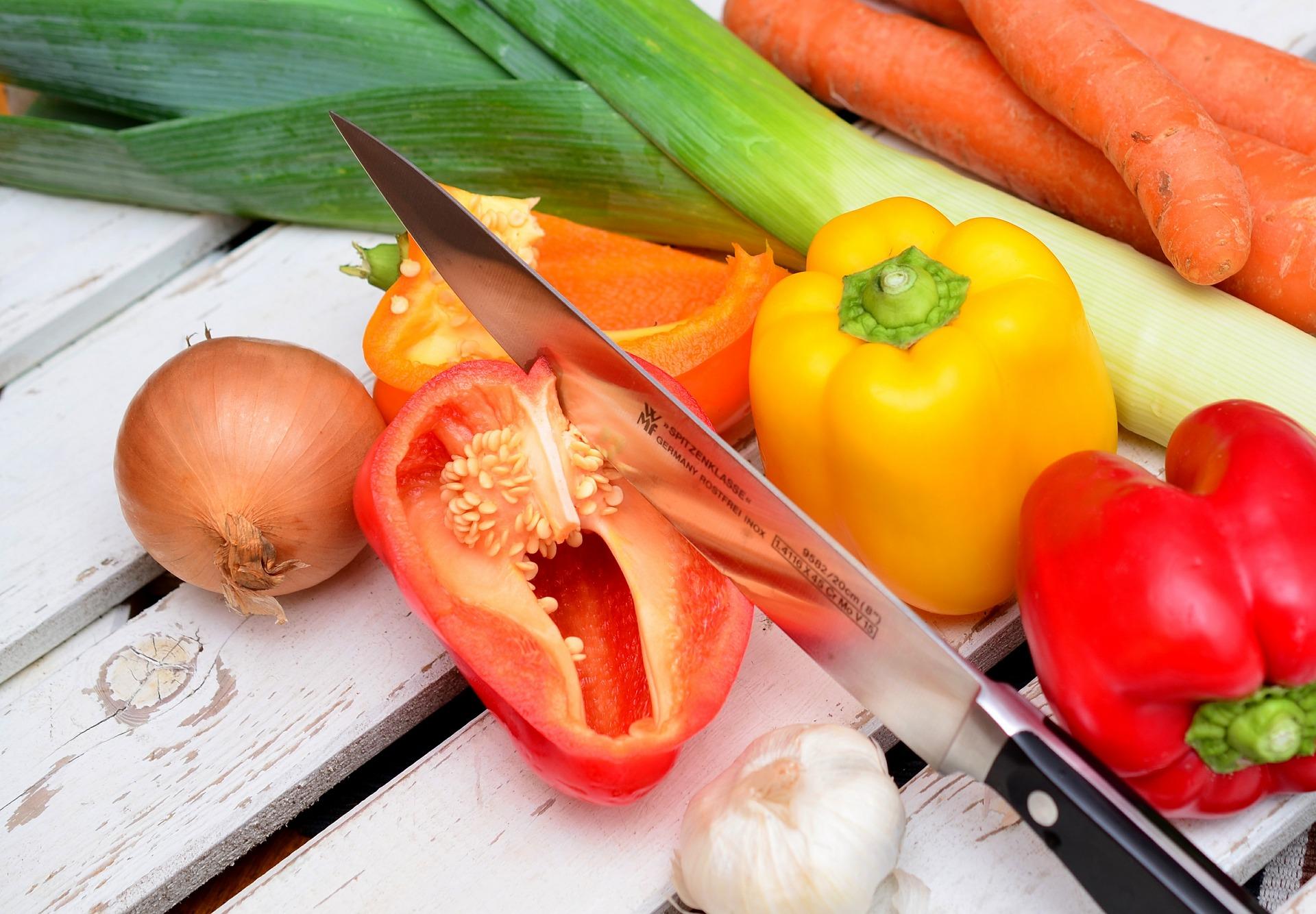 meal prep tagliare le verdure
