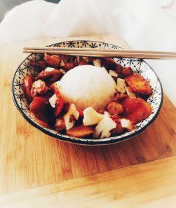 pollo e riso all'orientale