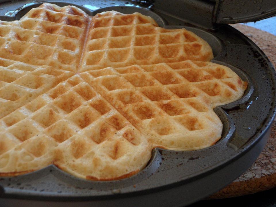 waffle salati in cottura